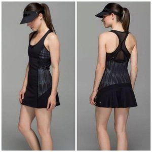 Lululemon Ace Black Scratch Match Mesh Dress